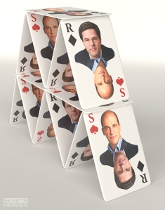 Diederik Samsom-Mark-Rutte-kaartenhuis