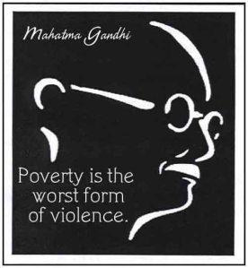 gandhi poverty quote