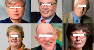 Eveline Herfkens, Dirk Jan Verbeek, Heino van Essen, Marjanne Sint, Emile Lohman en Margriet Drijver.