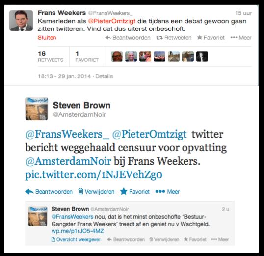 Twitter censur VVD Amsterdam-Noir