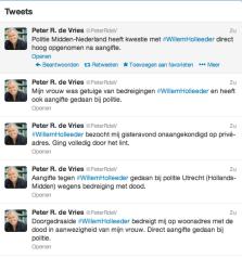 Twitter Willem bedreigt Peter en zijn vrouw