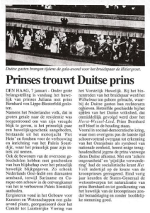 Prinses trouwt Duitser