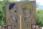 SPAIN-GERMANY-MERKEL-DIPLOMACY-POLITICS-DEMO