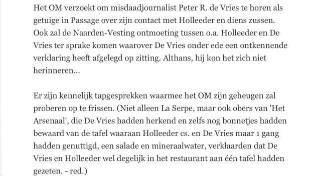 Bondtehond Peter R. de Vries