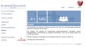 Mr Jan Hein Kuijpers geen informanten