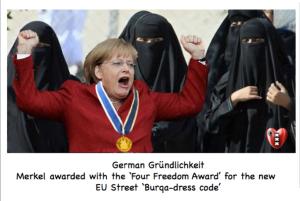 Merkel four freedon award