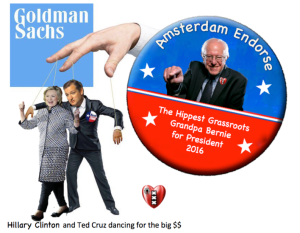 Bernie Sanders, Ted Cruz, Hillary Clinton