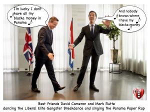 Mark Rutte en David Cameron