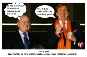 Sepp Blatter King Willem