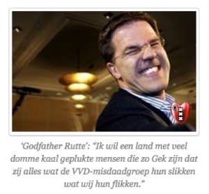 Mark Rutte gek