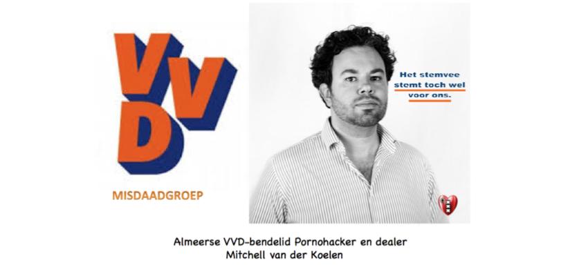 Almeerse VVD-bendelid Mitchell van der Koelen blijkt ...