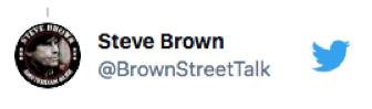 Steve Brown twitter